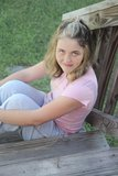 Jonge gelukkige vrouw Royalty-vrije Stock Afbeeldingen