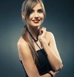 Jonge gelukkige vrouw Stock Afbeelding