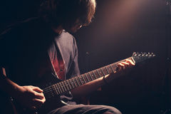 Jonge gitarist Royalty-vrije Stock Foto