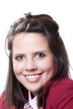 Jonge glimlachende bedrijfsvrouw headshot Royalty-vrije Stock Foto's