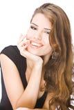 Jonge glimlachende vrouw Stock Afbeeldingen