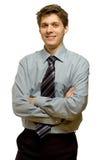 Jonge glimlachende zakenman Royalty-vrije Stock Afbeelding