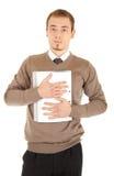 Jonge goed-geklede mens met documenten Royalty-vrije Stock Afbeelding