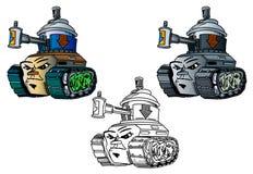 Jonge graffitti-Stijl tank Royalty-vrije Stock Fotografie