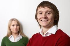Jonge huiselijk man en vrouw Stock Foto