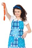Jonge huisvrouw Stock Foto