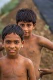 Jonge Indische jongens op gebied Royalty-vrije Stock Afbeelding