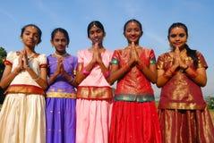 Jonge Indische meisjes Stock Foto's