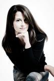 Jonge intellectuele vrouw Royalty-vrije Stock Afbeeldingen