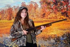 Jonge Jager in de herfst Stock Foto