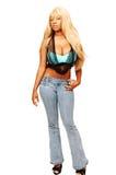 Jonge Jamaicaanse meisje status   Stock Foto's
