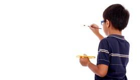 Jonge jongen in achtermening stock fotografie