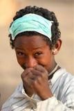 Jonge jongen in Afrika Stock Foto's