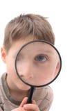 Jonge jongen als spion Royalty-vrije Stock Afbeeldingen