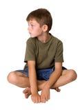 Jonge jongen die bored kijkt royalty-vrije stock fotografie