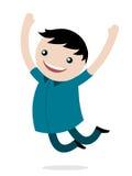Jonge jongen die voor vreugde springt Royalty-vrije Stock Fotografie