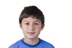 Jonge jongen met pleister op neus royalty-vrije stock foto