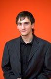 Jonge jongen met zwart overhemd Royalty-vrije Stock Fotografie