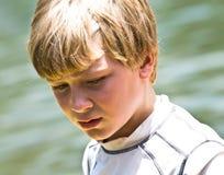 Jonge Jongen/Uitdrukking Stock Foto's