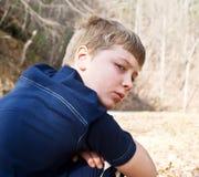 Jonge Jongen/Uitdrukking Stock Fotografie