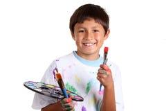 Jonge jongenskunstenaar Stock Foto