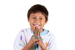 Jonge jongenskunstenaar Royalty-vrije Stock Afbeelding