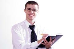 Jonge kameraad op een seminarie 4 Royalty-vrije Stock Foto