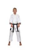 Jonge karatejongen Royalty-vrije Stock Foto