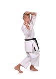 Jonge karatejongen Stock Foto's