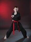 Jonge Karatemens. Stock Foto's