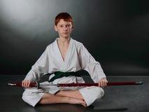 Jonge Karatemens. Royalty-vrije Stock Fotografie