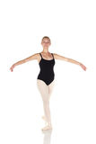 Jonge Kaukasische ballerina Stock Foto's