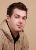 Jonge Kaukasische mens stock foto's