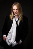 Jonge kerel met blond haar Royalty-vrije Stock Fotografie