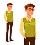 Jonge kerel op hipstermanier Stock Afbeeldingen