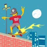 Jonge Kerel - Tailslide op brand! Stock Afbeeldingen