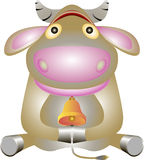 Jonge koe. Stock Foto's