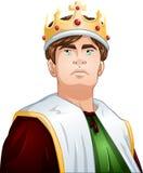 Jonge Koning With Crown Shoulders omhoog Stock Fotografie