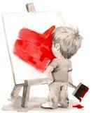 Jonge kunstenaar stock illustratie