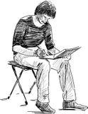 Jonge kunstenaar vector illustratie