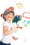 Jonge kunstenaar Stock Afbeelding