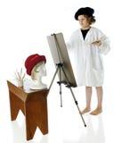Jonge Kunstenaar op het Werk stock foto's