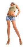 Jonge lange aantrekkelijke blonde vrouw Royalty-vrije Stock Foto