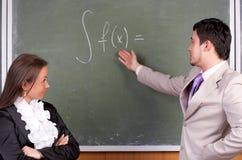 Jonge leraar en student Stock Afbeeldingen