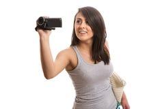 Jonge leuke vrouwenfilm Stock Afbeeldingen