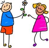 Jonge liefde royalty-vrije illustratie
