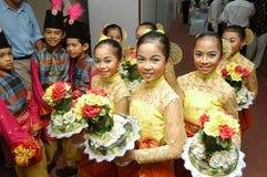 Jonge malay meisjes stock foto