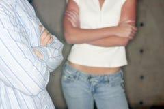Jonge man en jonge vrouw stock fotografie