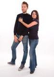 Jonge man en vrouw Stock Afbeeldingen