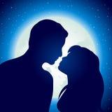 Jonge man en vrouw in liefde Stock Afbeelding